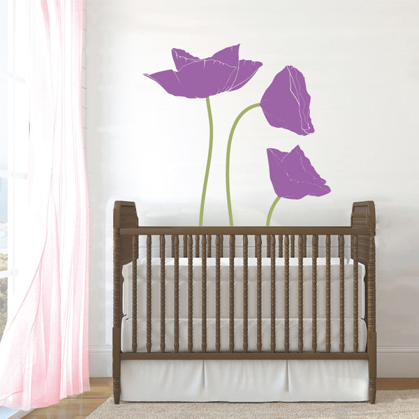 Poppy Flowers, 2 Color - Dana Decals - 1