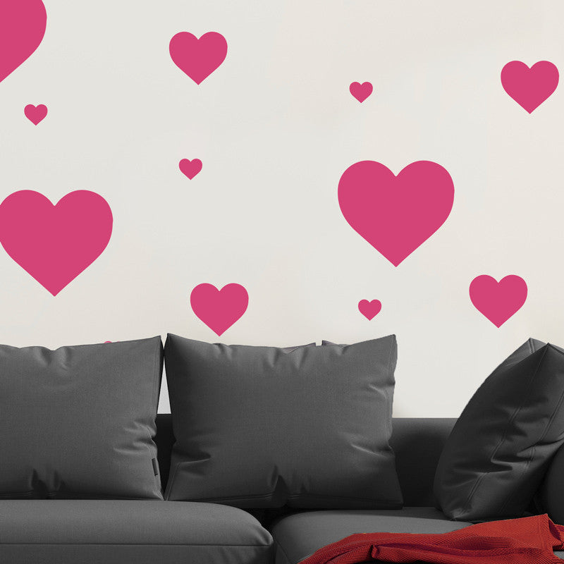 Multi-size Heart Pattern - Dana Decals