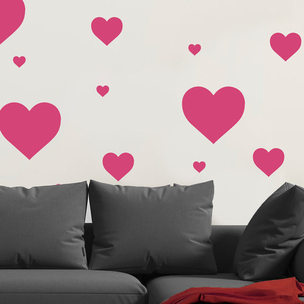Multi-size Heart Pattern - Dana Decals - 1