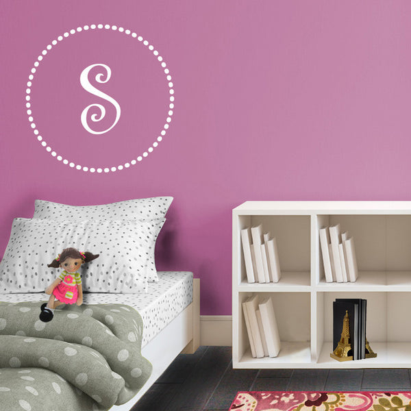 Whimsical Dotted Monogram - Dana Decals - 1