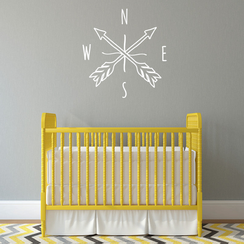 Doodle Arrow Compass - Dana Decals