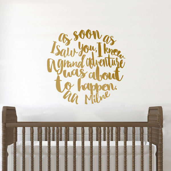 AA Milne Grand Adventure Quote - Dana Decals