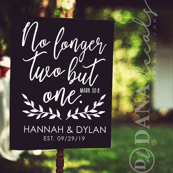 Custom Wedding Decal with Bible Verse - Dana Decals