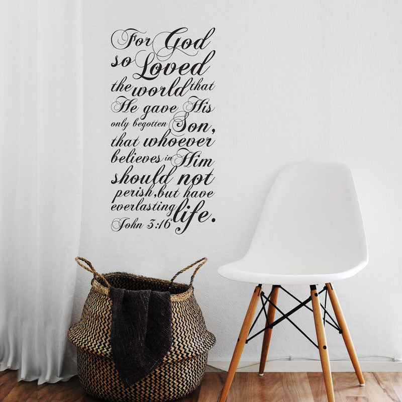 John 3:16 Bible Verse Quote - Dana Decals - 1