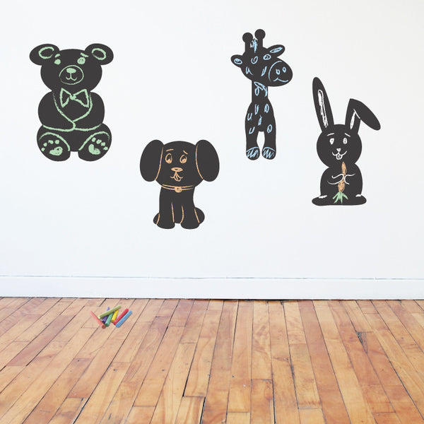 Cute Chalkboard Animal Silhouettes - Dana Decals