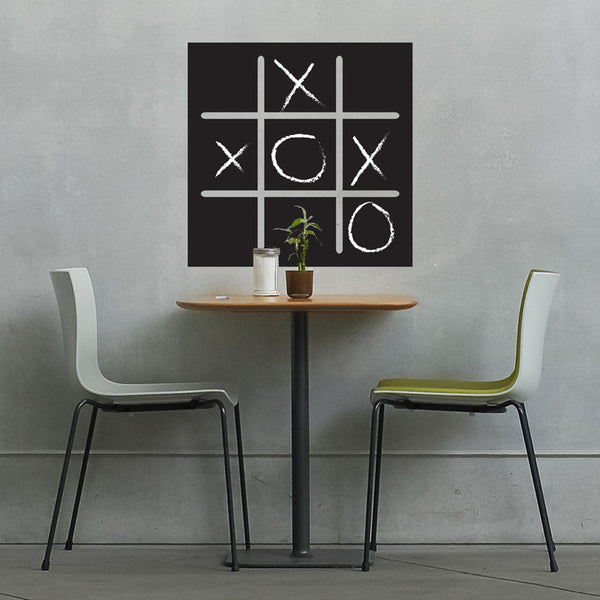 Tic Tac Toe Chalkboard Game - Dana Decals