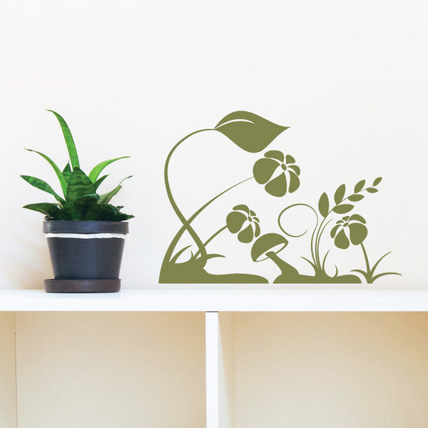 Flowers and Mushrooms - Dana Decals - 1
