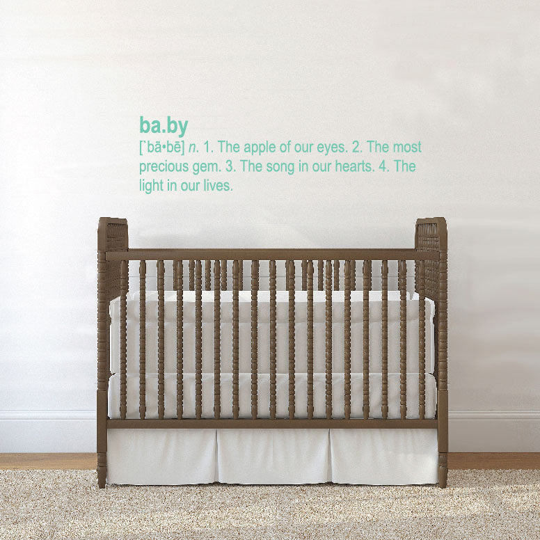 Definition of Baby - Nursery Quote Wall Decal - Dana Decals