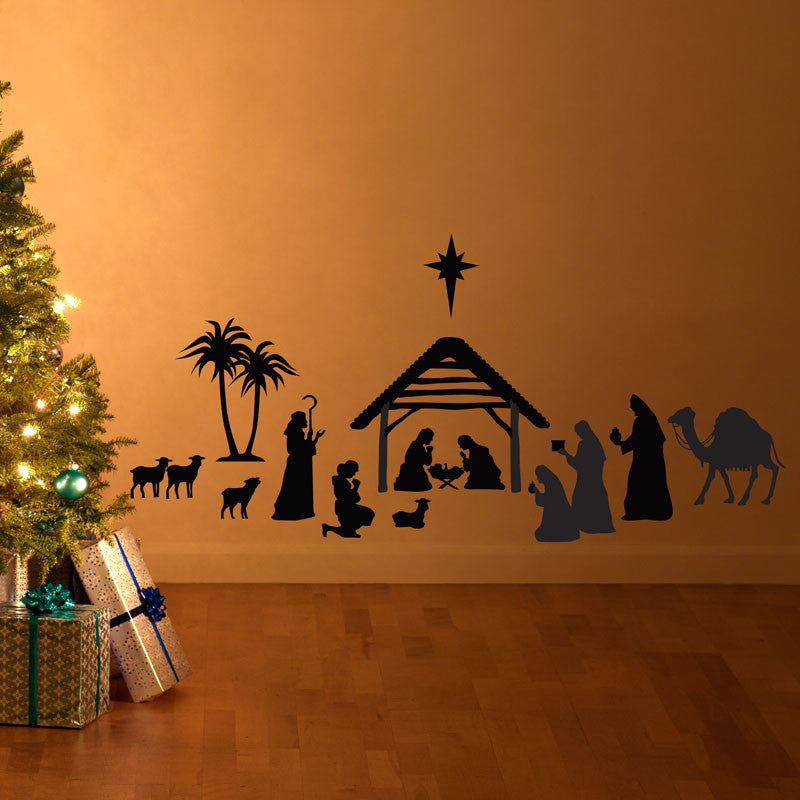 Christmas Nativity Scene - Dana Decals - 1