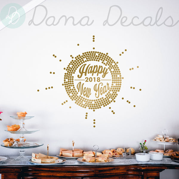 Happy New Year 2018 - Dana Decals