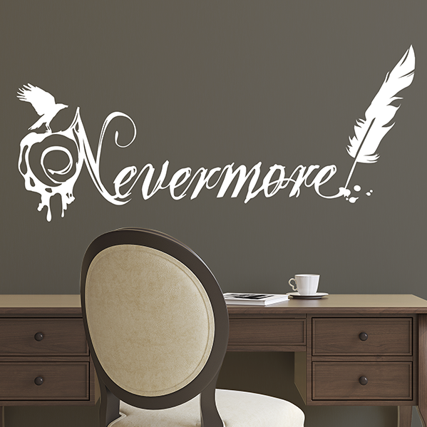 Edgar Allan Poe Nevermore Raven Quote - Dana Decals - 1