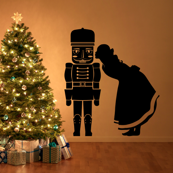 Nutcracker Kiss Silhouette - Dana Decals - 1