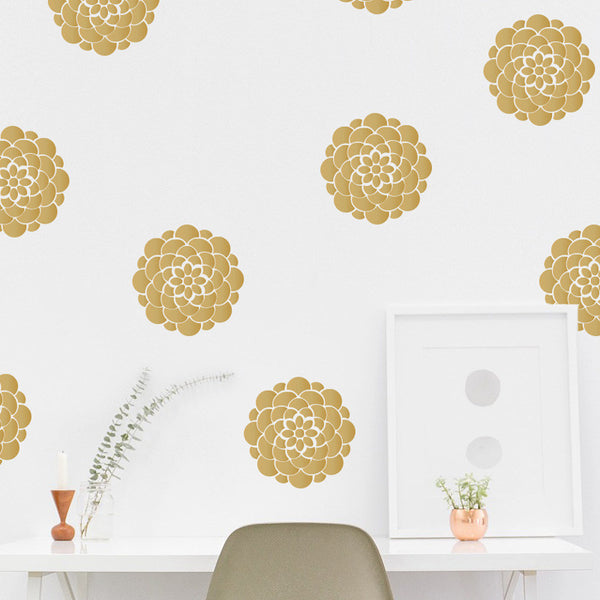 Geometric Flower Pattern - Dana Decals