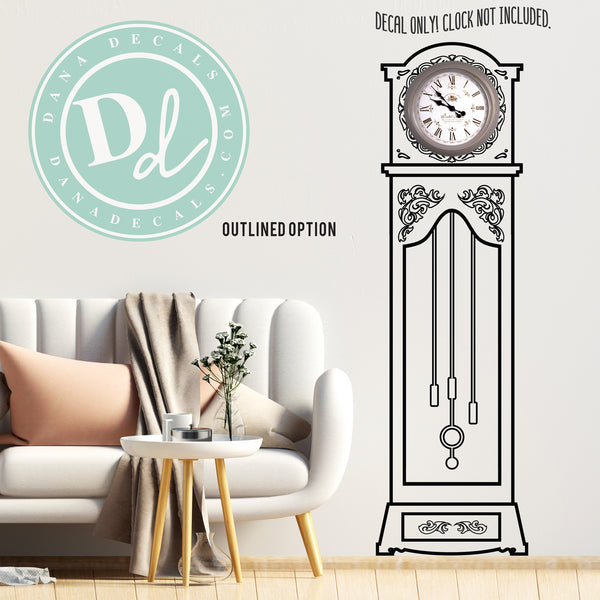 Antique Grandfather Clock Decal - Dana Decals