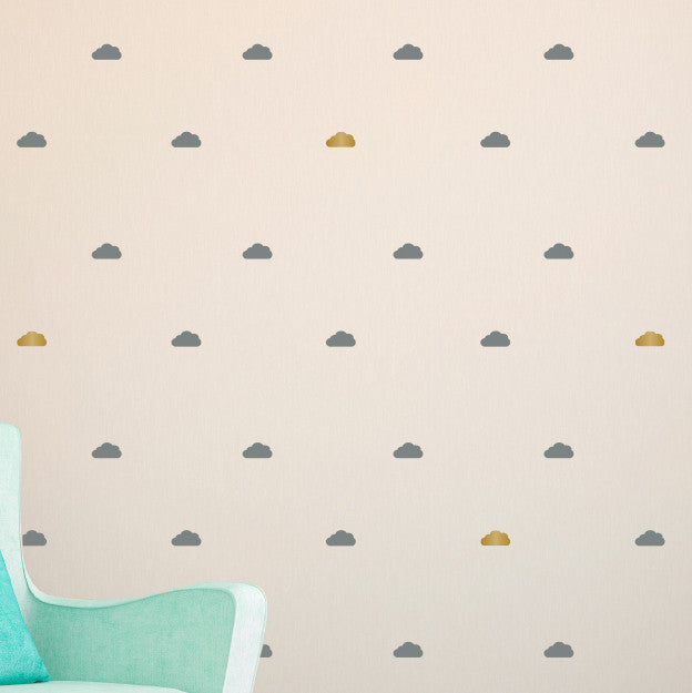 Tiny Clouds Wall Pattern - Dana Decals - 1