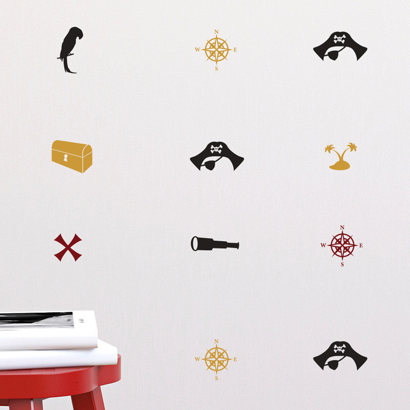 Pirate Icons Pattern - Dana Decals - 1