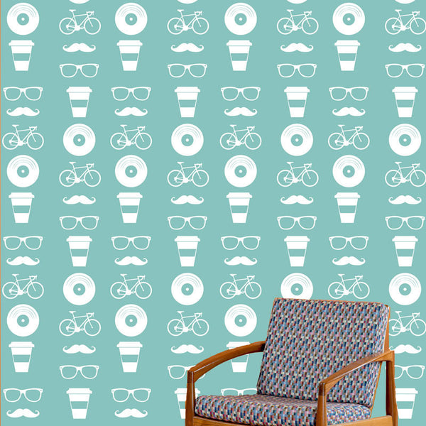 Hipster Life Pattern Set - Dana Decals