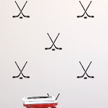 Hockey Sticks & Puck Pattern - Dana Decals