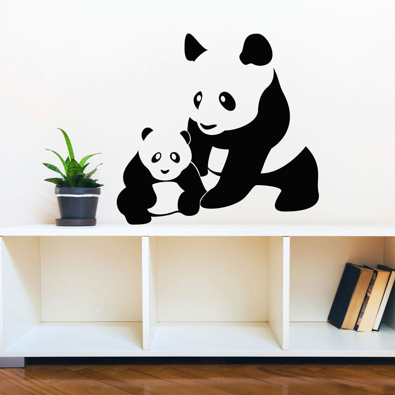 Mom and Baby Panda Cub - Dana Decals - 1