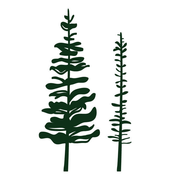 Small Pine Tree Set in Dark Green SALE - Dana Decals