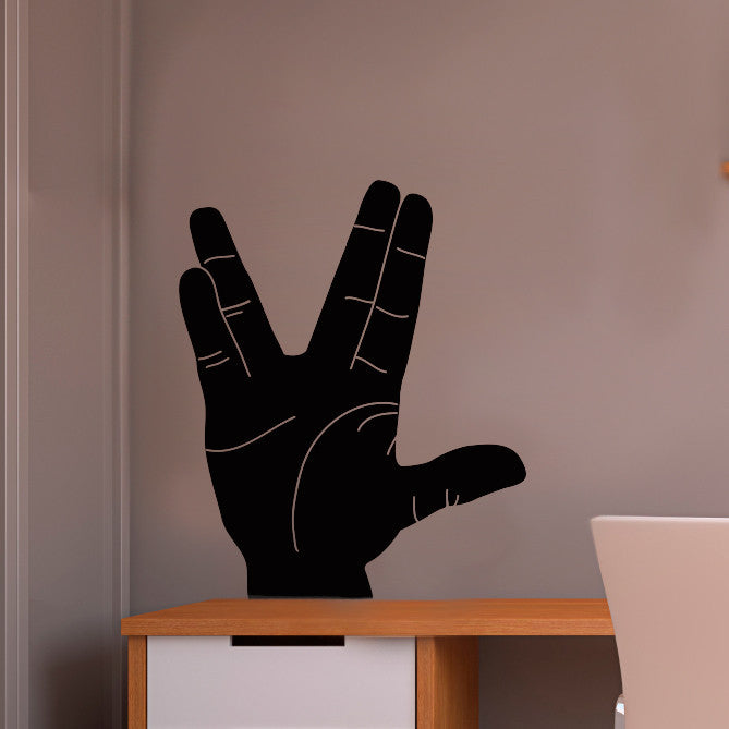 Live Long and Prosper Hand Sign Silhouette - Dana Decals - 1