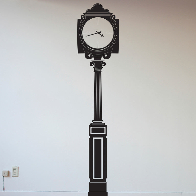 Paris Clock Street Light Post - Dana Decals - 1