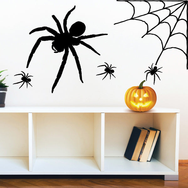 Halloween Spiders with Web - Dana Decals - 1