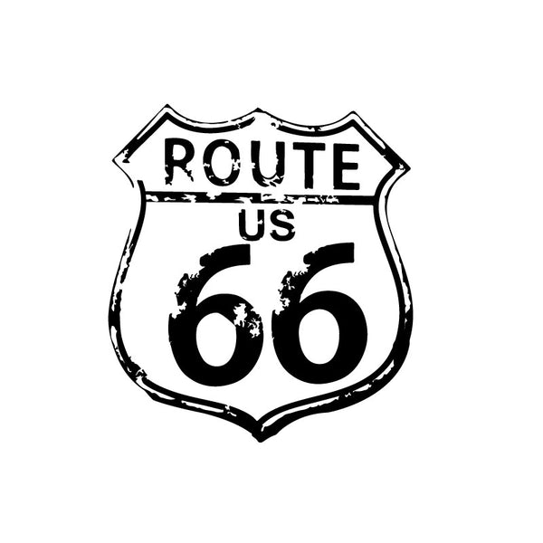 SALE ITEM Small Route 66 Decal - Dana Decals