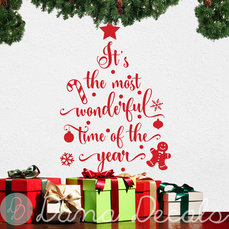 It S The Most Wonderful Time Of The Year Shop Decals From Dana Decals