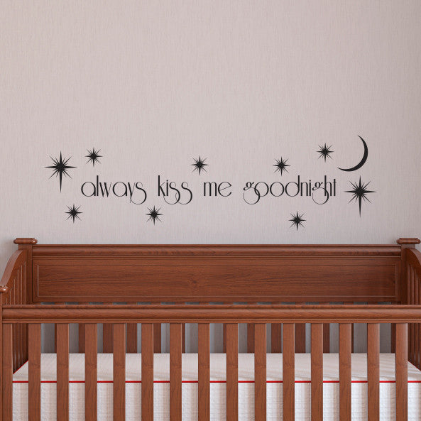 Always Kiss Goodnight - Dana Decals - 1