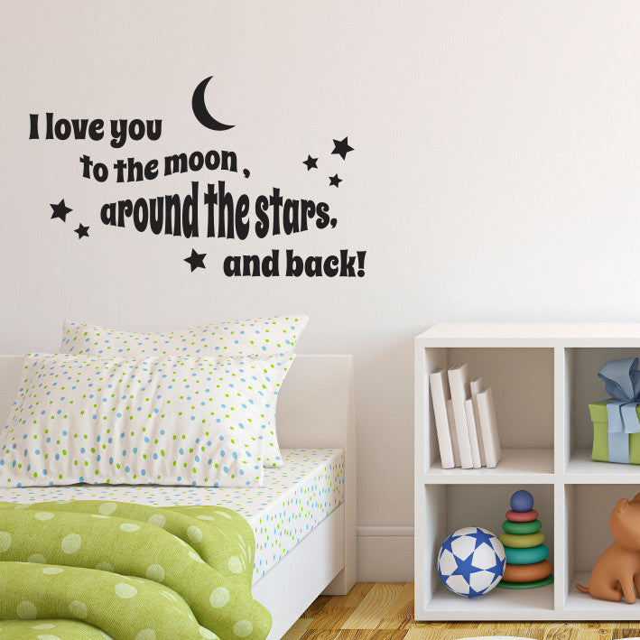 Love you to the Moon and Back - Dana Decals - 1