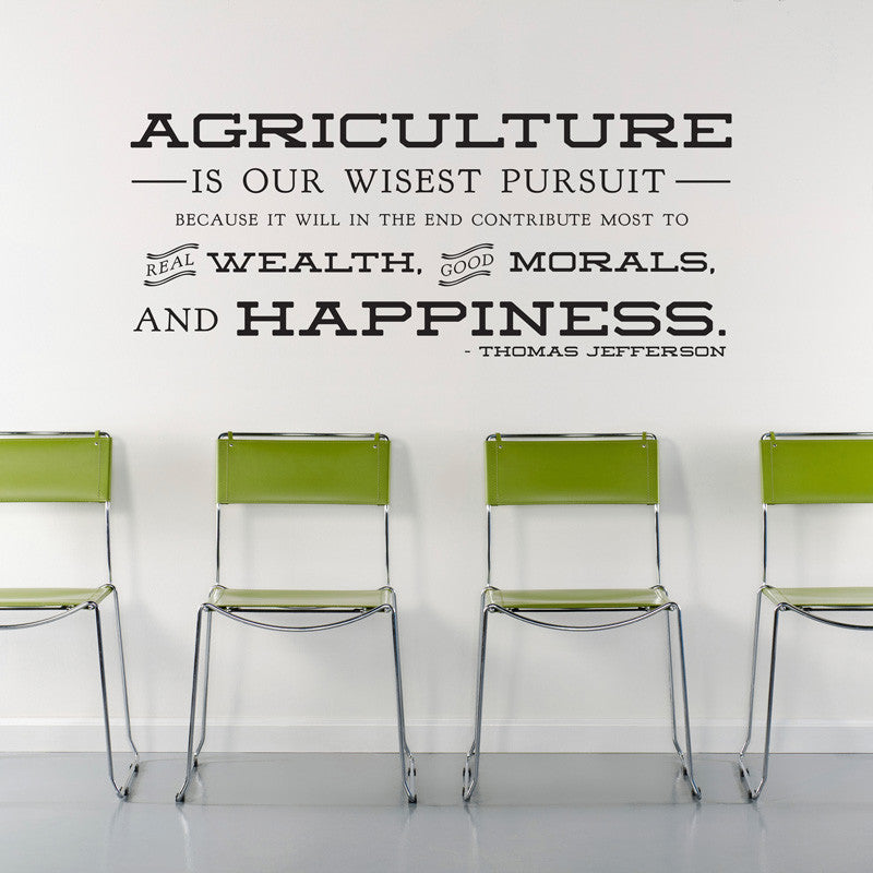 Jefferson Agriculture Quote - Dana Decals - 1