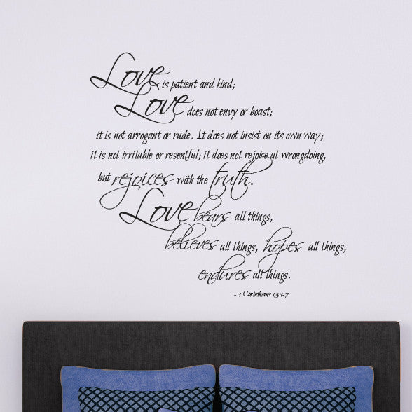 1 Corinthians Love Verse Quote - Dana Decals