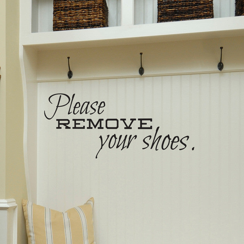 Remove Your Shoes - Dana Decals