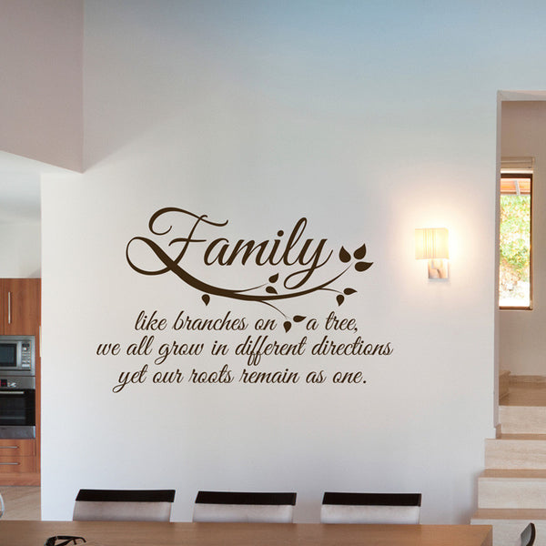 Family Roots Quote - Dana Decals - 1