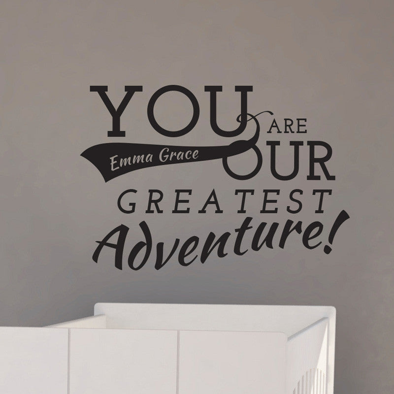 Personalized Our Adventure Quote - Dana Decals