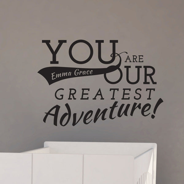 Personalized Our Adventure Quote - Dana Decals - 1