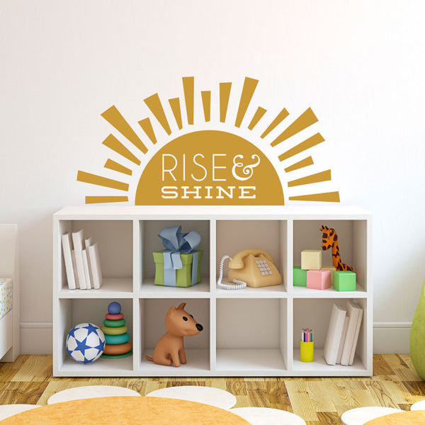 Rise & Shine Quote - Dana Decals - 1