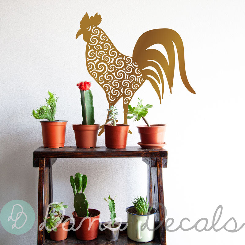 Patterned Rooster - Dana Decals