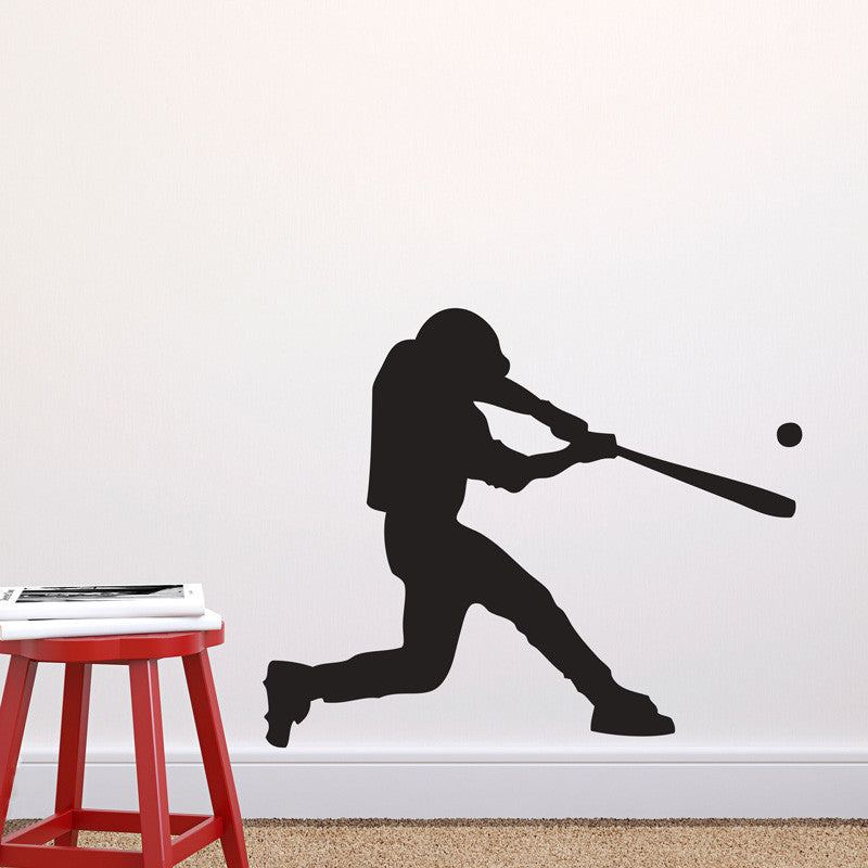 Swinging Baseball Player - Dana Decals - 1