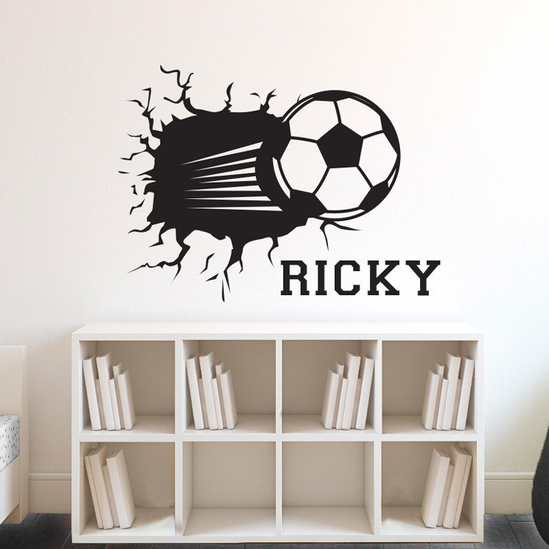 Personalized Soccer Ball Smashing - Dana Decals - 1