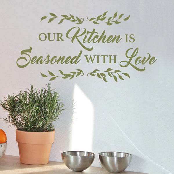 Kitchen Is Seasoned With Love - Dana Decals - 1