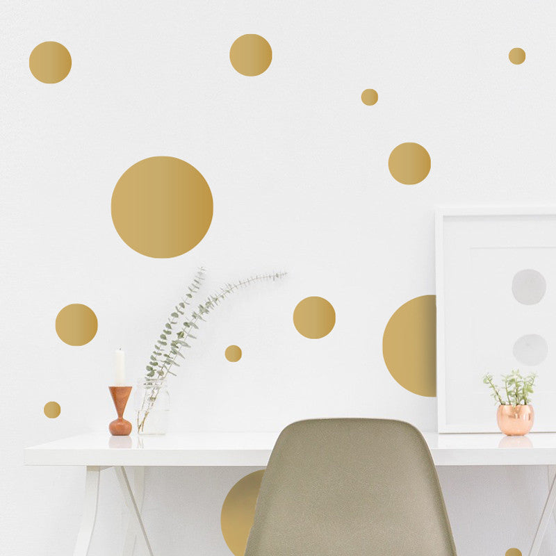 Multi-size Polka Dot Wall Pattern Decal, Single Color - Dana Decals