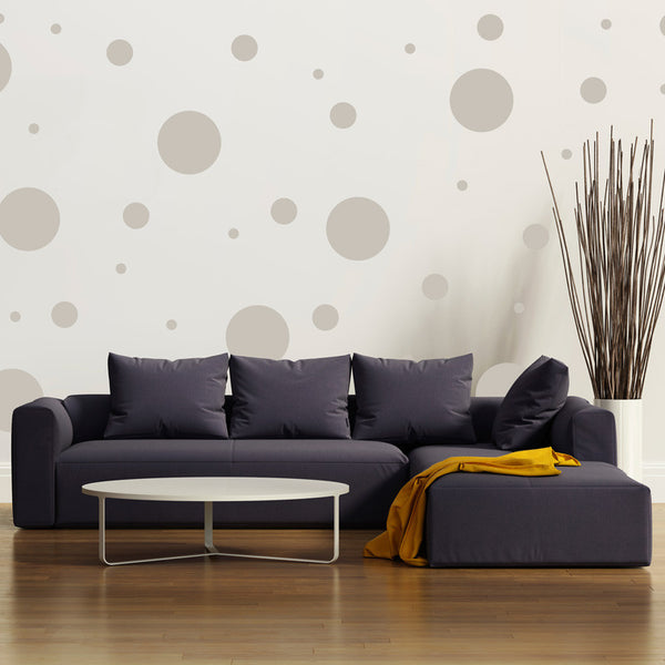 Multi Size Polka Dot Wall Pattern Decal 1 Color Shop