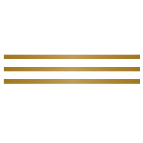 Small Stripe 3-Pack in Metallic gold SALE - Dana Decals