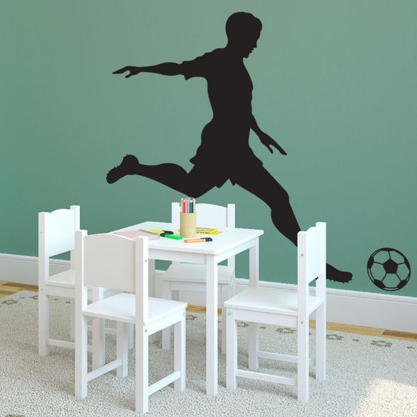 Boy Soccer Player Kicking - Dana Decals