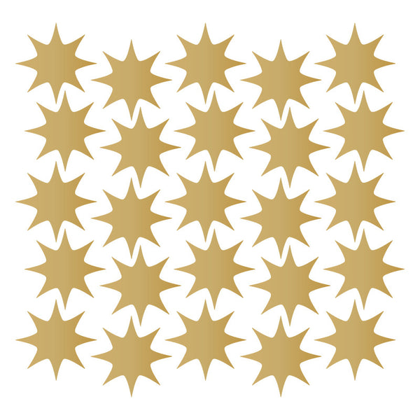 128 Metallic Gold Star Pattern SALE - Dana Decals