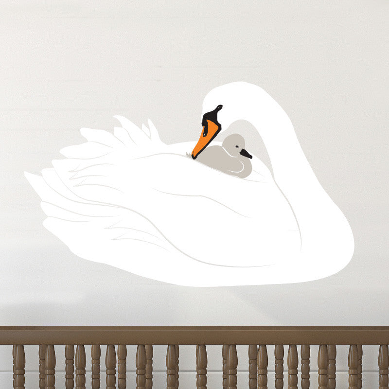 Mother and Baby Swan - Dana Decals - 1