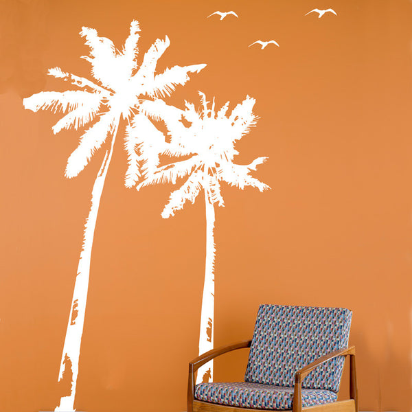 Palm Trees and Bird Flock - Dana Decals - 1