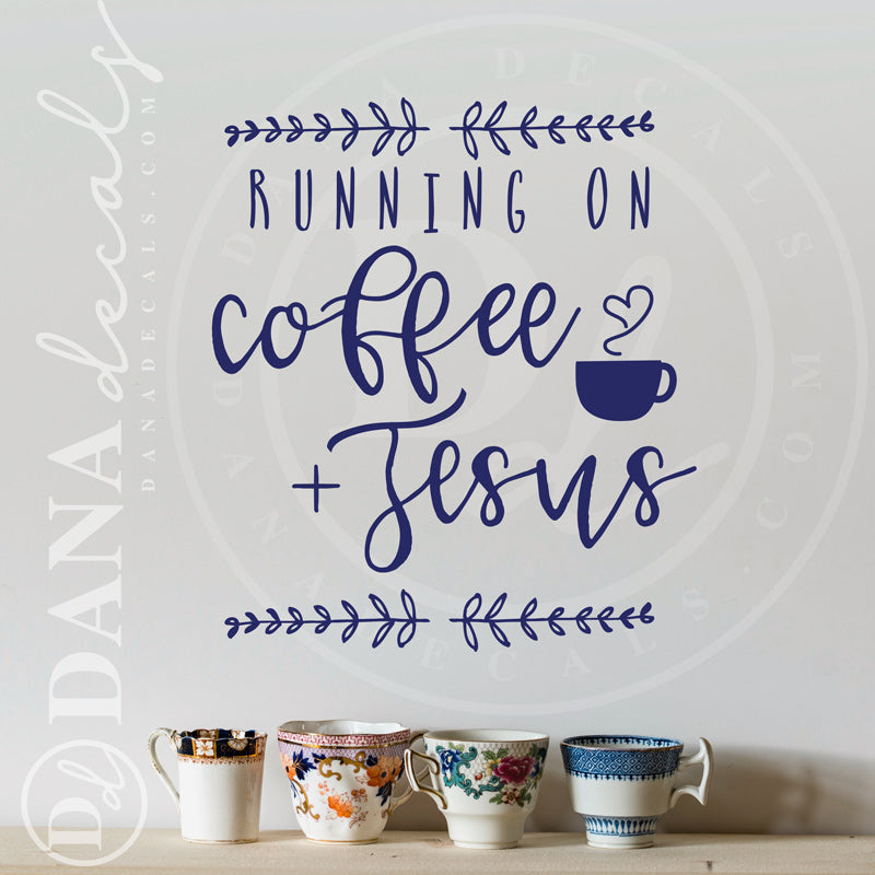 Running on Coffee and Jesus - Dana Decals